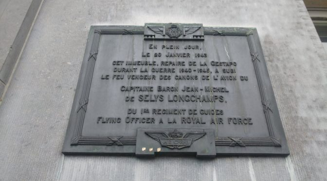 Jean de Selys Longchamps et l'habillage mémoriel