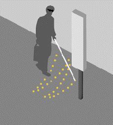 Le mobilier urbain pour les personnes malvoyantes ou aveugles à Bordeaux